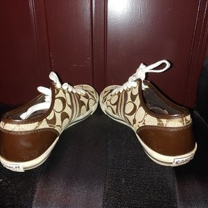 Coach Shoes - COACH signature brown Sneakers shoes